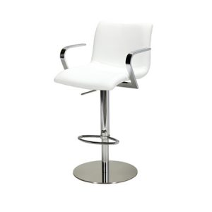 BS115 Allure Bar Stool White