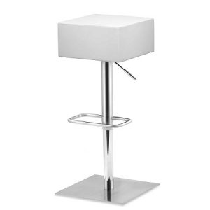 BS220 Cube Bar Stool, ADJ white