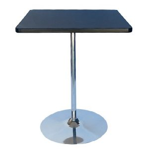 BT203-24 Tulip Bar Table SQ Black