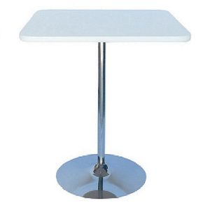 BT203-30 Tulip Bar Table SQ White