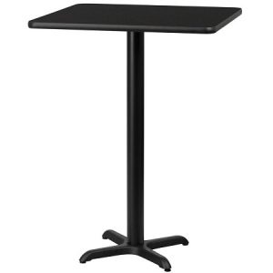 BT204-24 CI Bar Table SQ Black