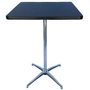 BT412-24 Pedestal Bar Table SQ Black