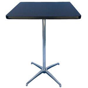 BT412-24 Pedestal Bar Table SQ Black