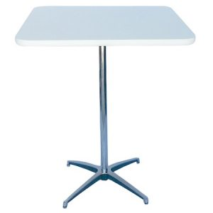 BT412-30 Pedestal Bar Table SQ White