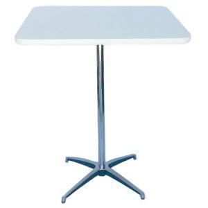 BT412-30 Pedestal Bar Table SQ White