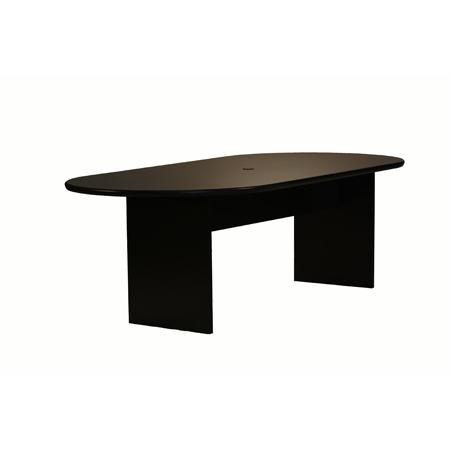 OVAL TABLE WWIRE MGMT Camden Tradeshow Event Furnishings - Oval conference table for 8