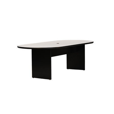 OVAL TABLE WWIRE MGMT Camden Tradeshow Event Furnishings - White oval conference table