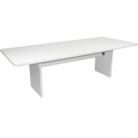 12' RECT. TABLE W/WIRE MGMT. ALL WHITE