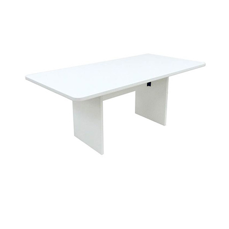 6' RECT. TABLE W/WIRE MGMT. ALL WHITE
