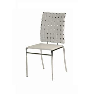 CH107 Criss Cross Chair White