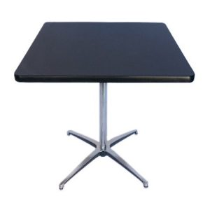 CT321-24 24SQ Pedestal Table Black