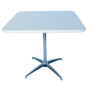 CT321-30 30SQ Pedestal Table White