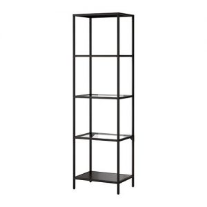 EU211 Vetti Glass 4 Shelf Display Black