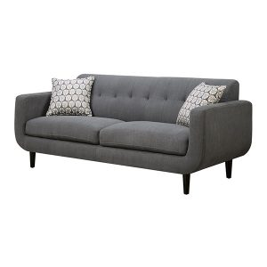 LG710 Stan Mid Century Sofa Fabric Gray