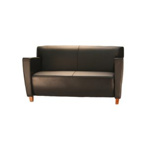COOK LEATHER LOVESEAT