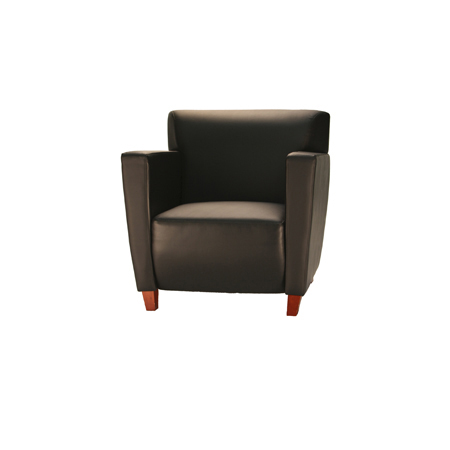 COOK LEATHER CLUB CHAIR