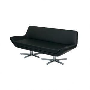 LG729 Yield Leather Sofa Black1