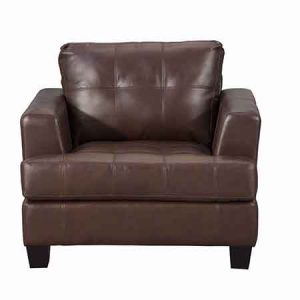 SAMUEL LEATHER CLUB CHAIR