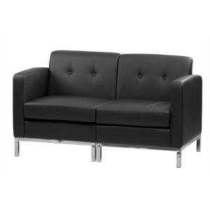 WALL ST LEATHER LOVESEAT