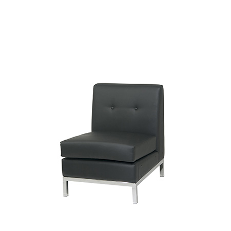 WALL ST LEATHER SLIPPER CHAIR
