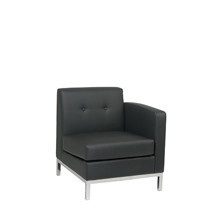 WALL ST LEATHER SECTIONAL RF