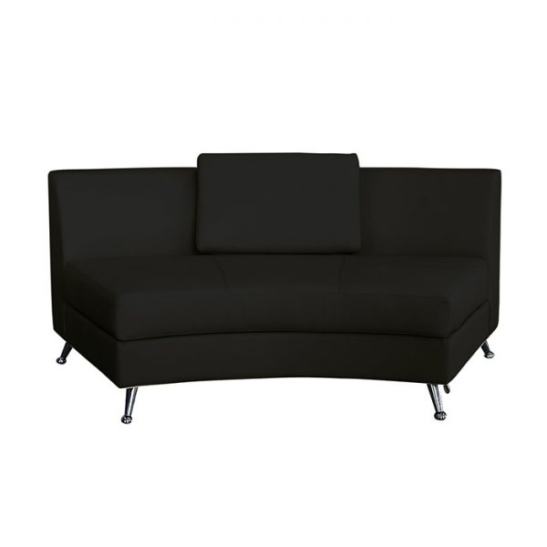 CURVE LEATHER SECTIONAL