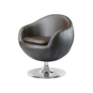 LG901 Bounce Leather Swivel Chair Black
