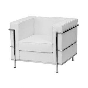 LG922 Kitson Leather Chair White