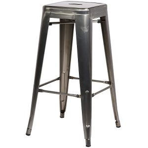 BS210 Tolix Bar Stool Gunmetal