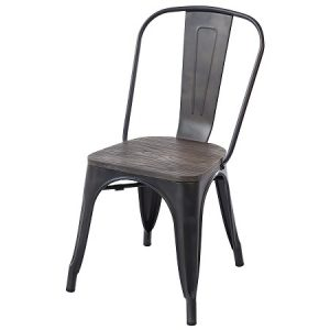 CH129 Tolix Chair Bronze ElmWood
