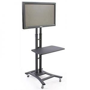 AV201 TV Stand Free Standing With Shelf Black