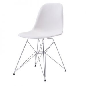 CH110 Paris Chair White & Chrome