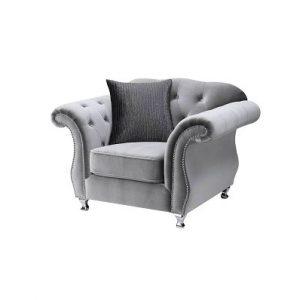 LG932 Glamours Chair Velvet Silver