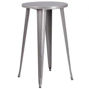 BT508 Retro Bar Table 24 Inch RND Silver