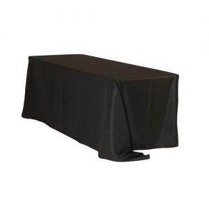 EU104 Table Drape 90x132 Black