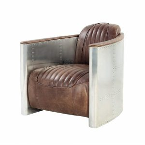 LG736 Aviator Chair Brown Leather