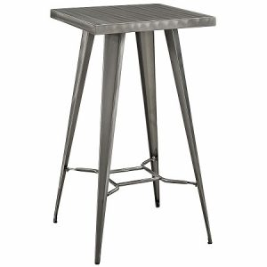 BT509 Retro Bar Table SQ Top Gunmetal