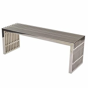 CH139 Grid Bench Medium Stainless Steel